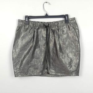 Elizabeth & James | Metallic Mini Skirt